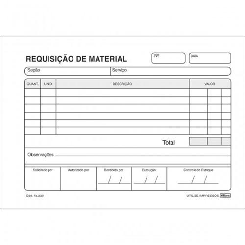 Requisição de Material Simplificado - 50 Folhas 152307