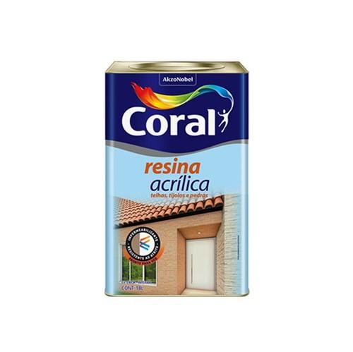Resina Acrílica Brilhante 18L - Coral - Coral