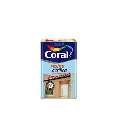 Resina Acrílica Brilhante 5L - Coral - Coral