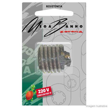 Resistência para Chuveiro 220V 7500W MegaBanho Preto Corona