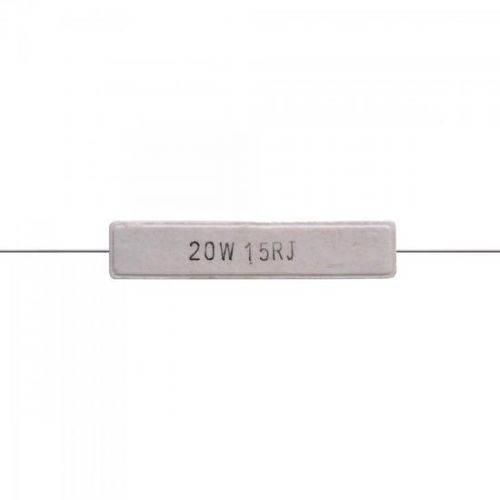 Resistor Fio Cerâmico 20w 15r Rstr0001 Branco Storm