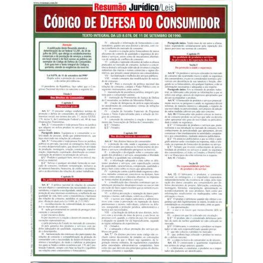 Resumao Codigo de Defesa do Consumidor - Bafisa