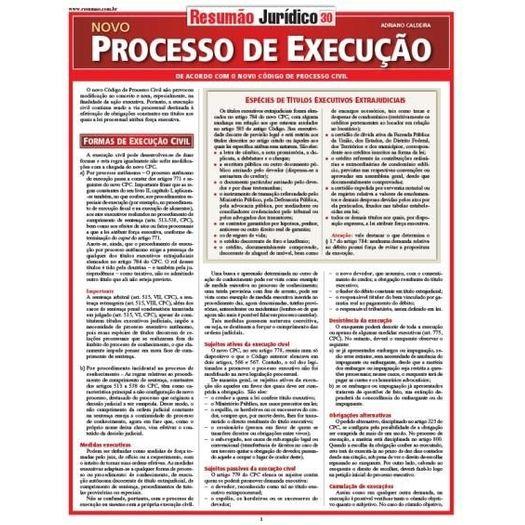 Resumao Juridico 30 - Processo de Execucao - Bafisa