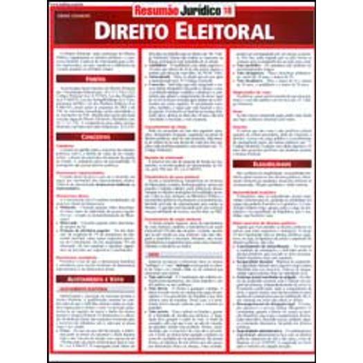 Resumao Juridico 18 - Direito Eleitoral - Bafisa