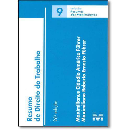 Resumo de Direito do Trabalho - Vol.9 - Coleção Resumos