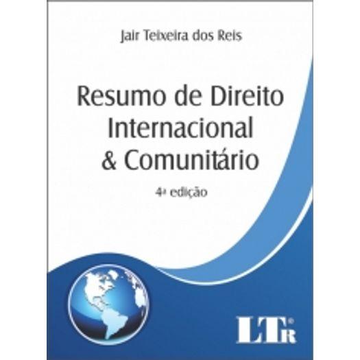 Resumo de Direito Internacional e Comunitario - Ltr