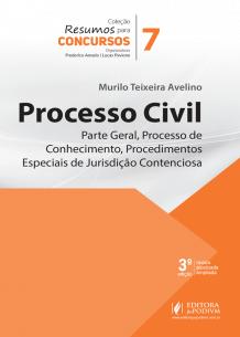 Resumos para Concursos - V.7 - Processo Civil - Parte Geral, Processo de Conhecimento e Procedimentos Especiais de Jurisdição Contenciosa (2019)