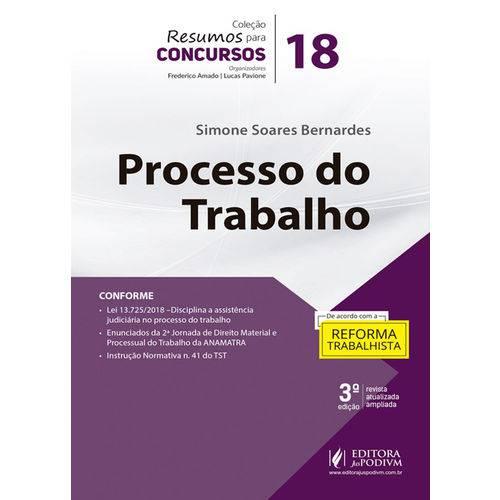 Resumos para Concursos - Volume 18 - Processo do Trabalho (2019)