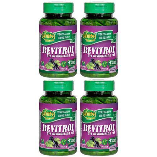 Resveratrol Revitrol 4 Un de 120 Capsulas