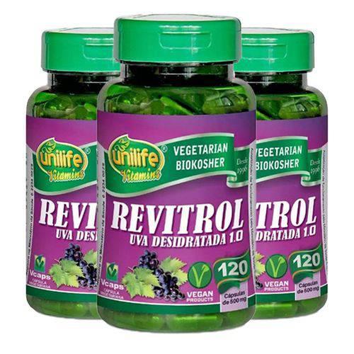 Resveratrol Revitrol 3 Un de 120 Capsulas