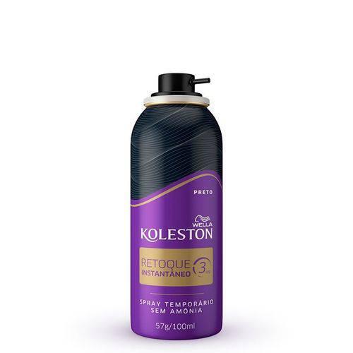 Retoque de Raiz Koleston Spray Preto 57g