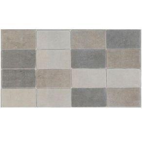"Revestimento ""A"" 32,5x59 Mini Brick Cimento Ma-- Eliane"