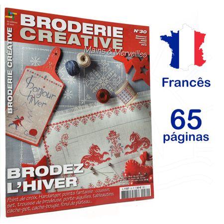 Revista Broderie Creative - Mains & Merveilles Nº 30 - Brodez L´Hiver