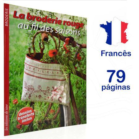 Revista La Broderie Rouge Au Fil Des Saisons (Bordado Vermelho em Todas as Estações)
