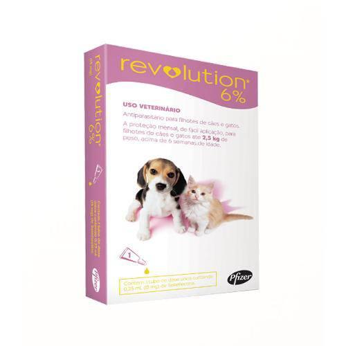 Revolution Cães e Gatos Filhotes Até 2,5kg - 15mg-1 Ampola
