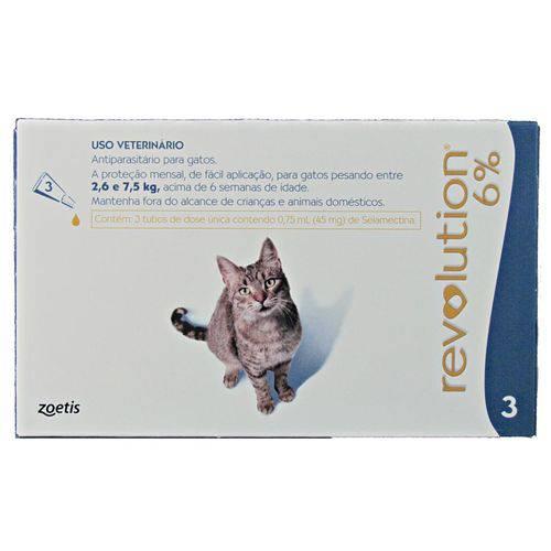 Revolution para Gatos - Caixa com 03 Pipetas
