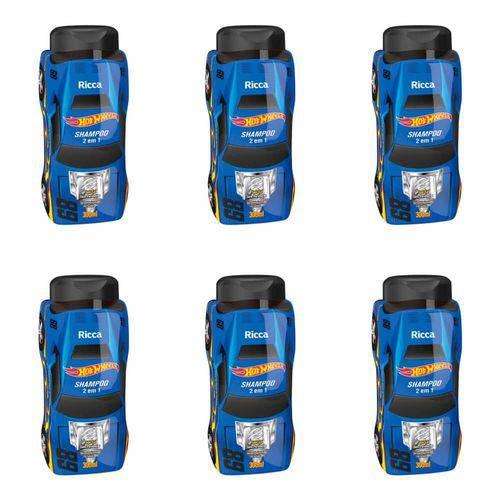Ricca Hot Wheels 2em1 Turbinado Shampoo 300ml (kit C/06)