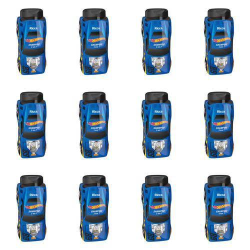 Ricca Hot Wheels 2em1 Turbinado Shampoo 300ml (kit C/12)