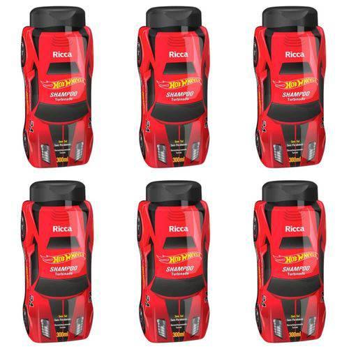 Ricca Hot Wheels Turbinado Shampoo 300ml (kit C/06)