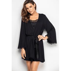 Robe com Fita Bolinhas - Black J8 U