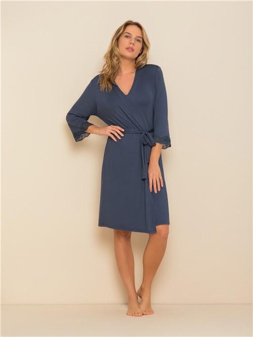 Robe Feminino Cherry Azul Indigo M