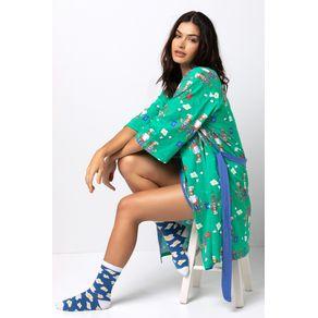 Robe Kimono de Malha - Hey, Verão! U