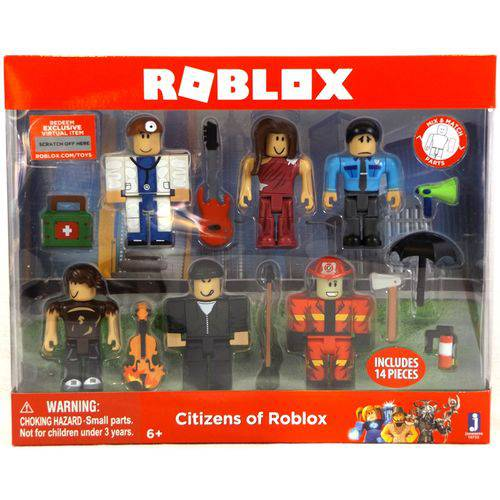Roblox Citizens Of Roblox Seis Figuras Pack