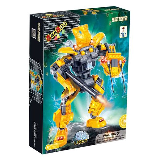 Robo Fighter Amarelo 215 Peças - Banbao