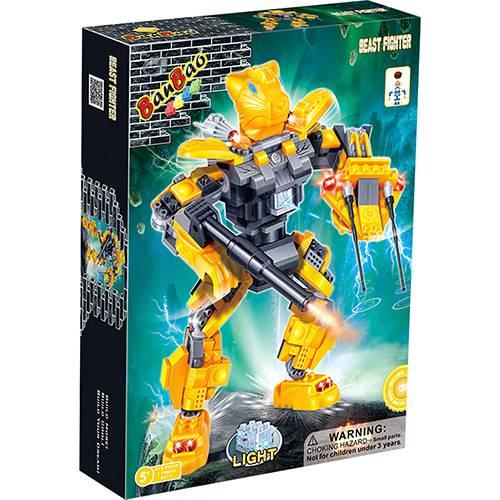Robô Fighter Amarelo 215 Peças Banbao