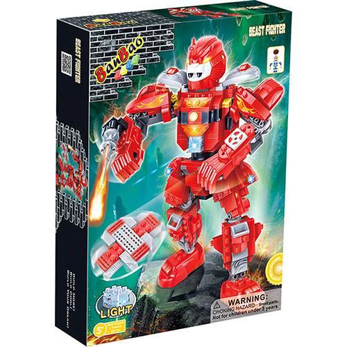 Robô Fighter Vermelho 228 Peças Banbao