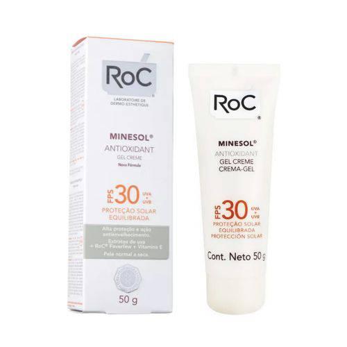 Roc Minesol Antioxidante Gel Creme Fps 30 50g
