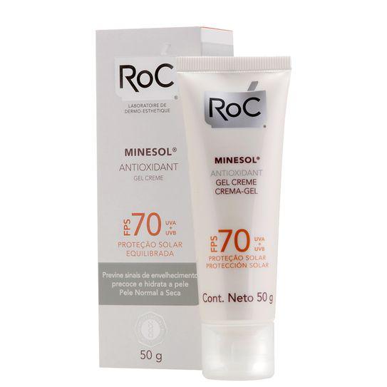 Roc Minesol Protetor Solar Anti Oxidante Fps70 50g