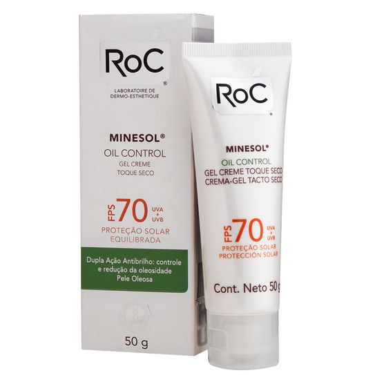 Roc Minesol Protetor Solar Oil Control Fps70 50g