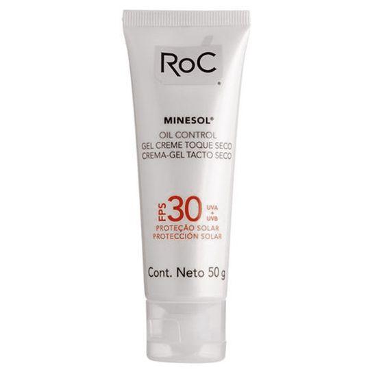Roc Minesol Protetor Solar Oil Control Gel Creme Toque Seco Fps30 50g