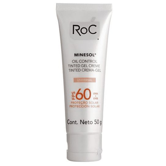 Roc Minesol Protetor Solar Oil Control Tinted Gel Creme Cor Universal Fps60 50g