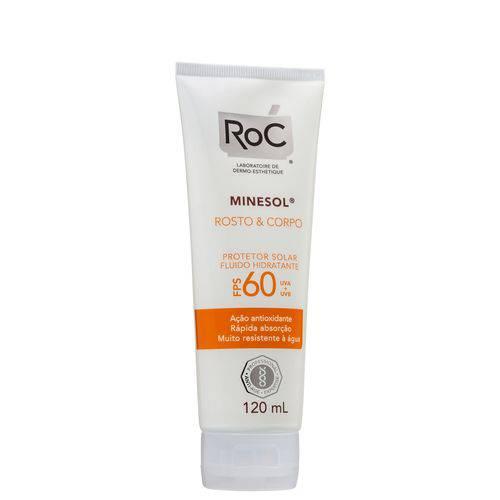 Roc Minesol Rosto & Corpo Fps60 - Protetor Solar 120ml