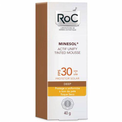 Roc Minesol Tinted Mousse Deep Fps 30