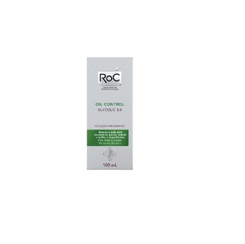 Roc Oil Control Glycolic 8 Solução Pre Essence 100ml