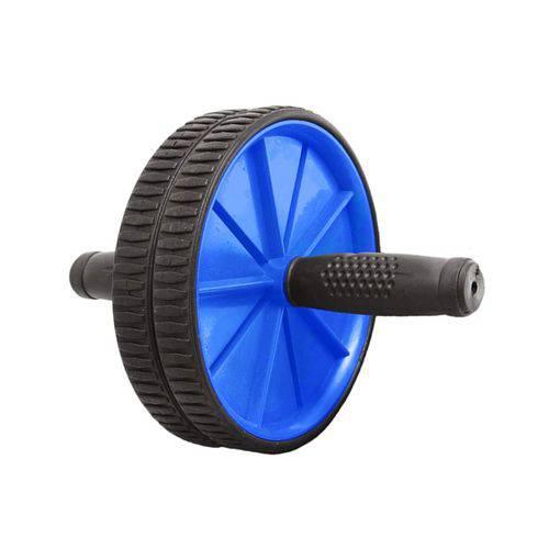 Roda Abdominal Rolo de Exercicios Lombar - Azul