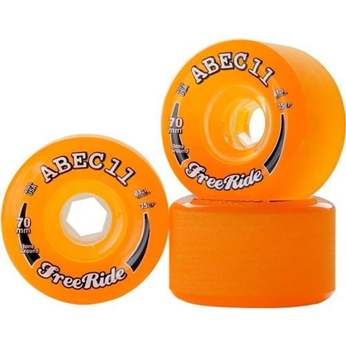 Roda ABEC 11 Classic Freeride Stone Ground 70mm 81A Amber