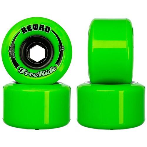 Roda ABEC 11 Retro Freeride 72mm 80A
