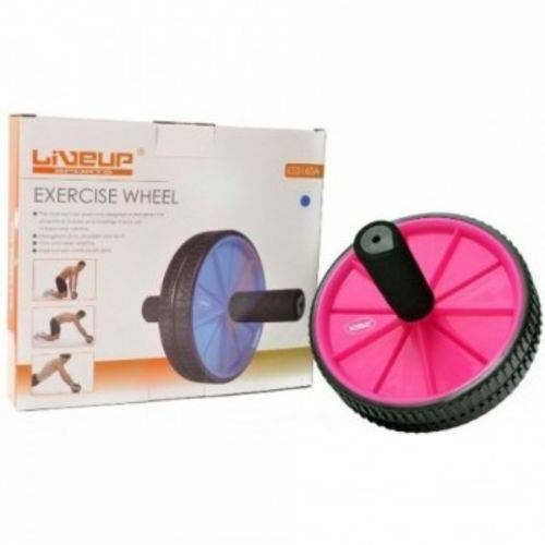 Roda de Exercicio - Rosa - Ls3160r Liveup
