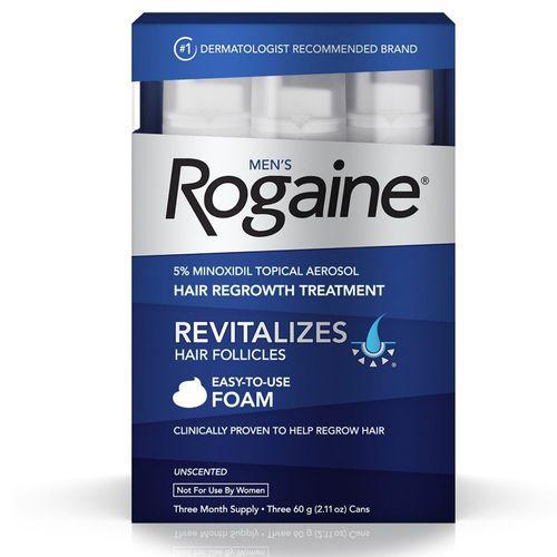 ROGAINE EXTRA STRENGTH - MINOXIDIL ESPUMA 5% - TRATAMENTO PARA 3 MESES 60g