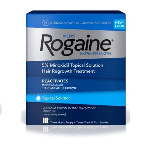 ROGAINE EXTRA STRENGTH - MINOXIDIL SOLUÇÃO 5% - TRATAMENTO PARA 3 MESES 60ml