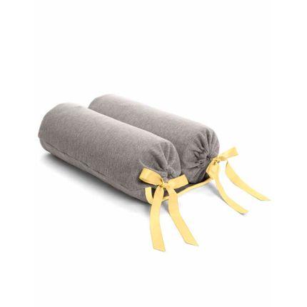 Rolinho Segura Bebê Girafante - Cinza com Amarelo - Hug
