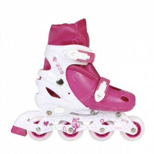 Roller Infantil Cor Rosa Regulavel do 35 ao 38