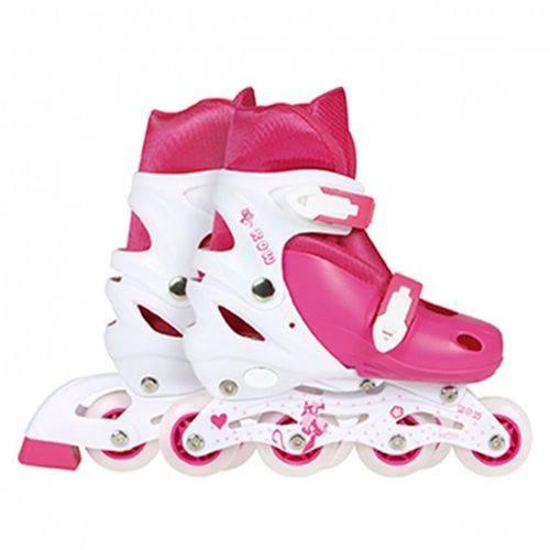 Roller Infantil Regulável Rosa - Mor Rosa