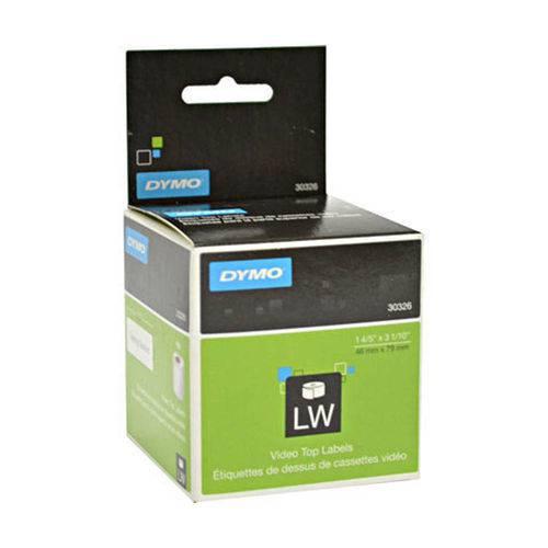 Rolo de Etiquetas em Papel Adesivo Térmico com 150 Unidades para Fitas VHS Label Writer 30326 - Dymo
