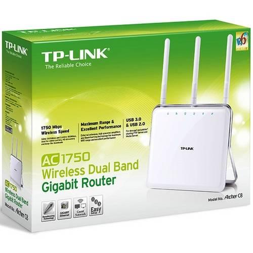Roteador Dual Band AC 1750Mbps Porta USB 3.0 ARCHER C8 - TP-Link
