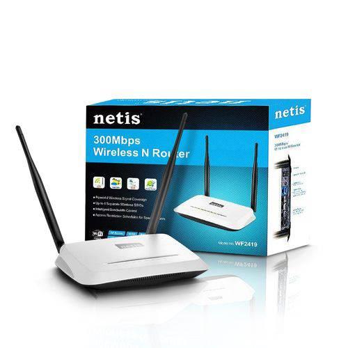 Roteador Wireless 300mbps 2 Antenas Wf2419 Netis